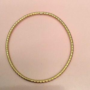 Vintage gold filled rope bangle bracelet